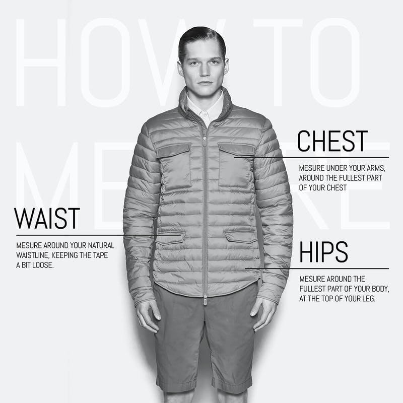 How to mesure SaveTheDuck Men Jackets