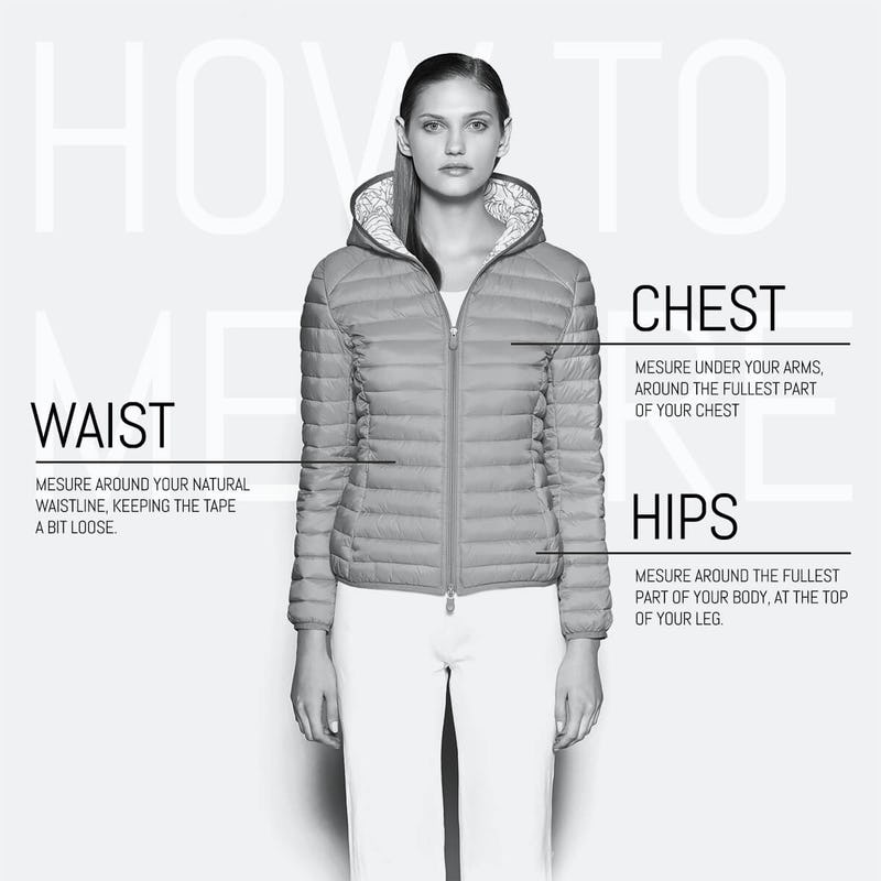 How to mesure SaveTheDuck Women's Jackets