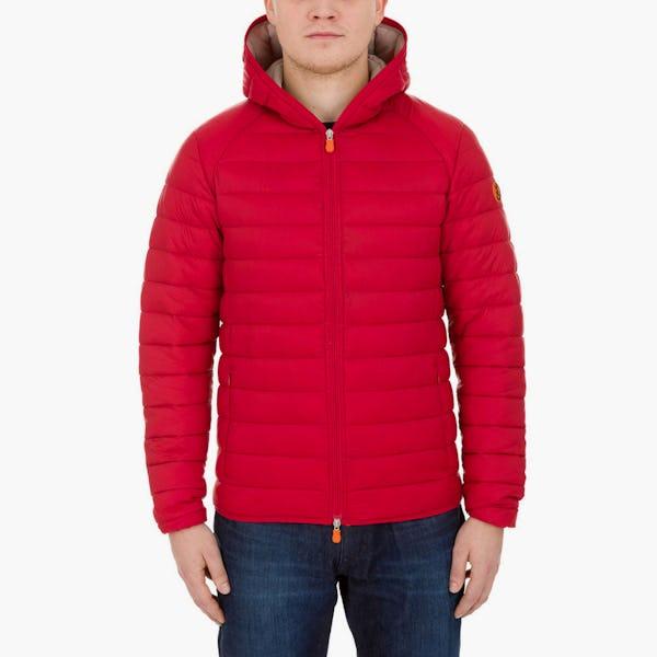 Men's Lightweight Hooded Jacket in Tango Red