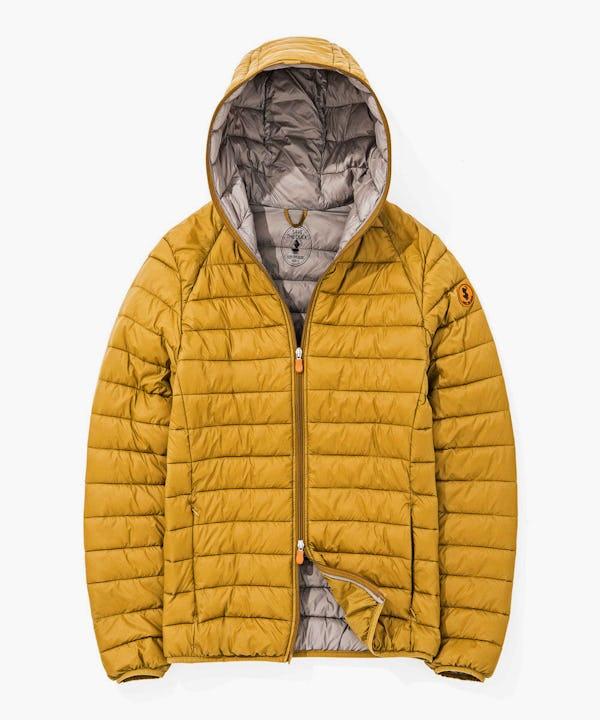 Light Weight Men's Hooded Jacket in Honey Brown