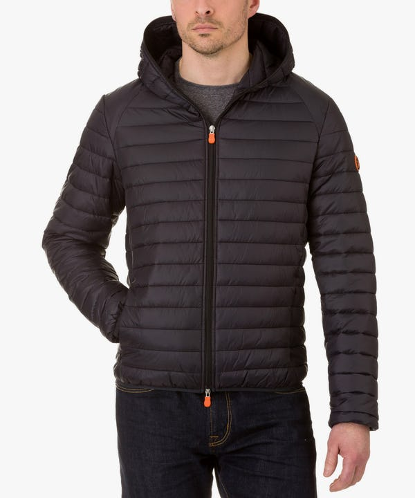 Men's Hooded Jacket in Black