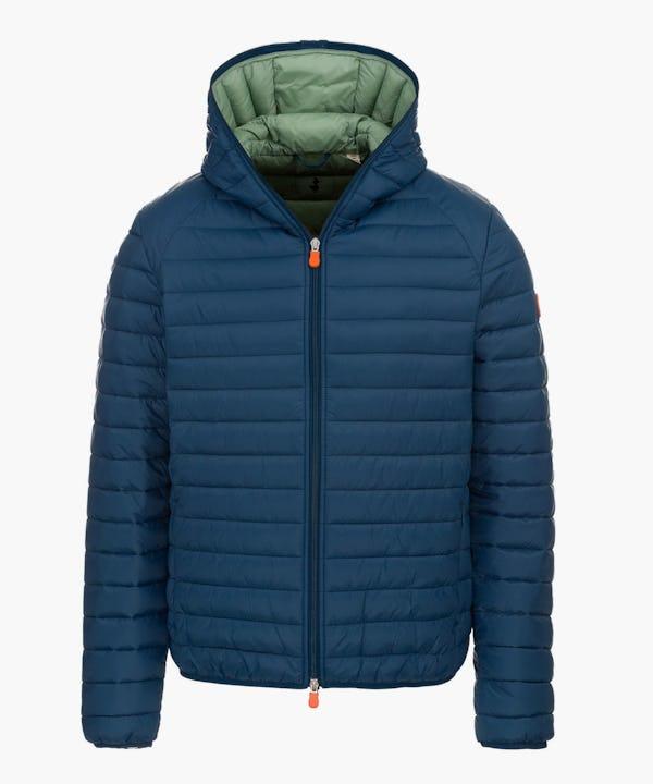 Men's Hooded Jacket in Midnight Blue