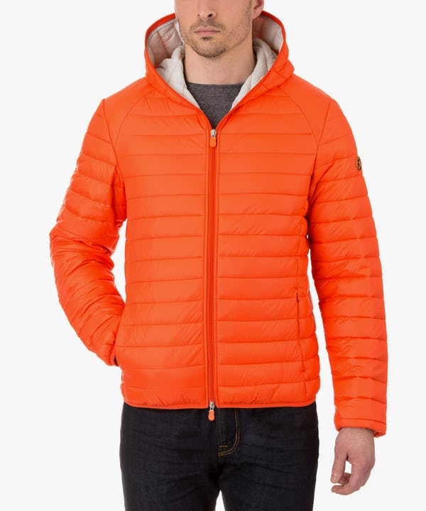 Men's Hooded Jacket in Spicy Orange