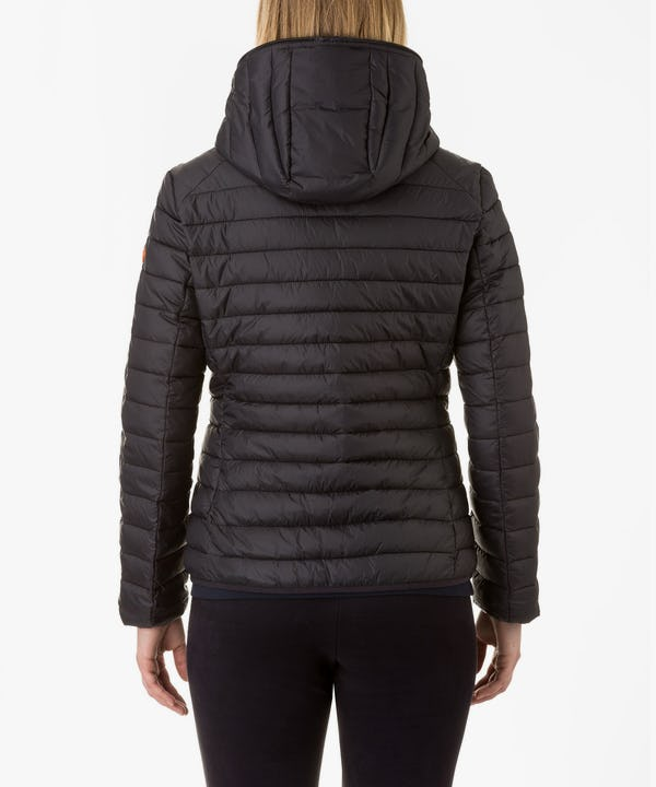 Women Hooded Jacket in Black