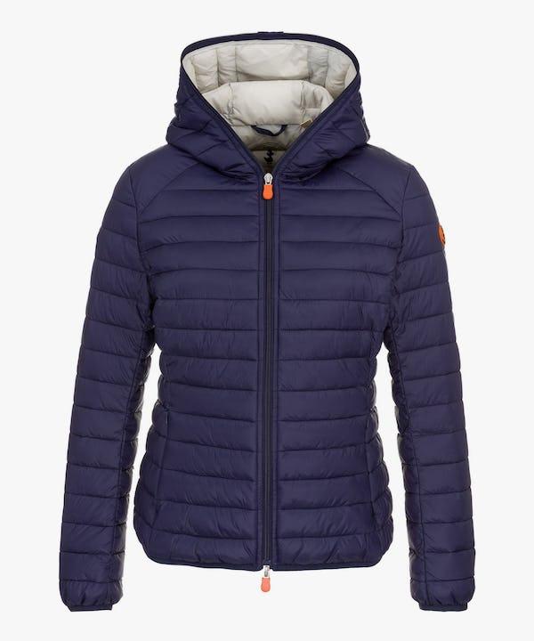 Women Hooded Jacket in Navy Blue