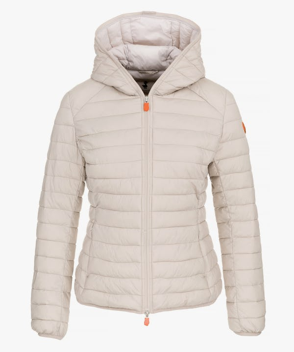 Women Hooded Jacket in Silver Grey