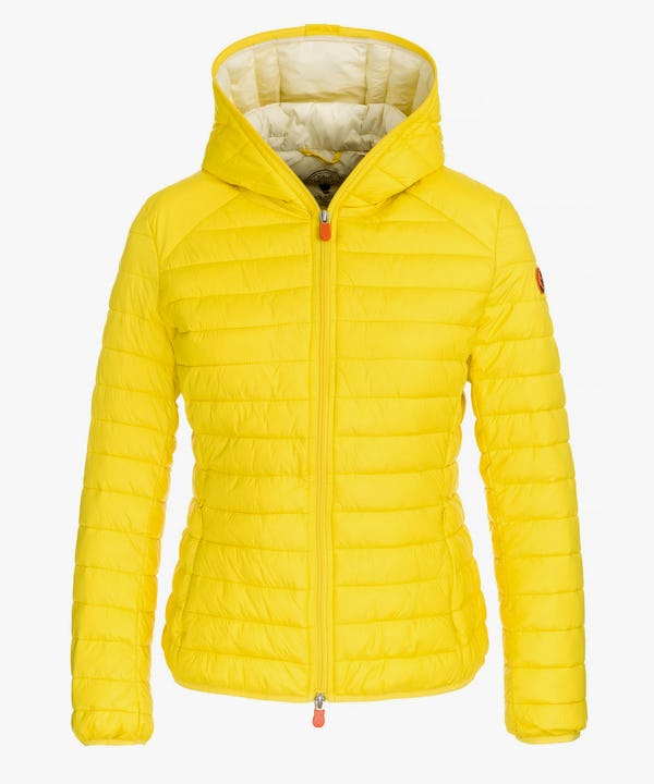 Women Hooded Jacket in Sunshine Yellow