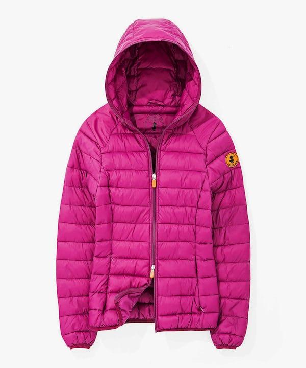 Women's Hoodied Light Weight Jacket in Pink