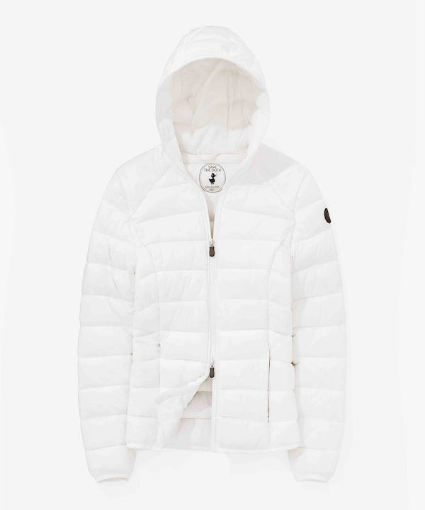 Ultra Light Women Hoodied Jacket in Ivory