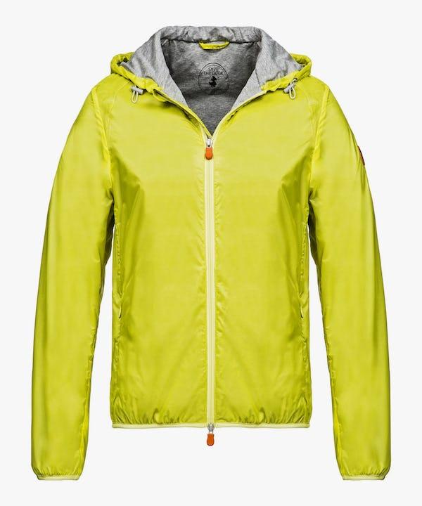 Men's Hooded Jacket in Acid Yellow