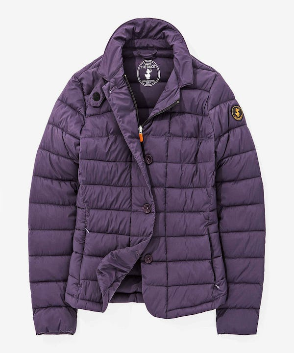 Stretch Women Quilted Jacket in Purple