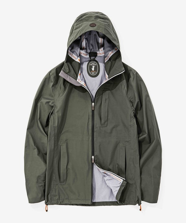 Men's Light Weigth Rain Jacket in Smokey Green