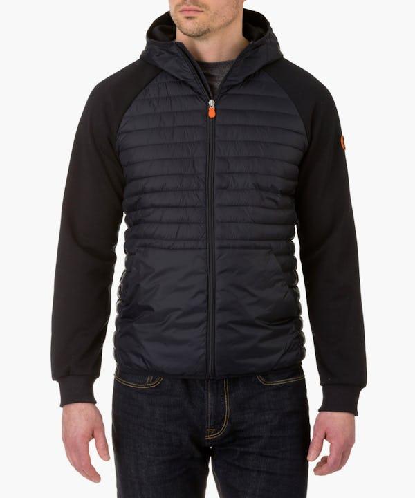 Men's Hooded Jacket in Blue Black