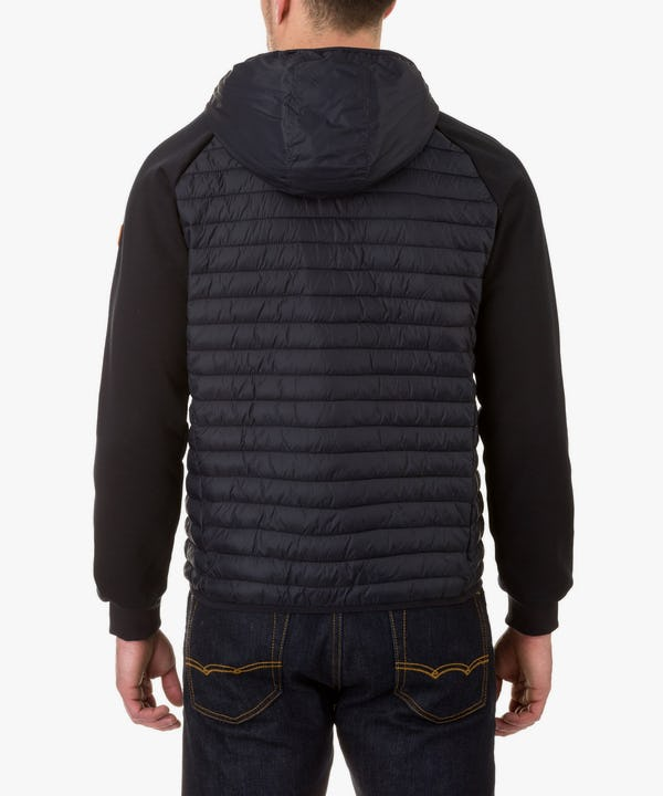 Men's Hooded Jacket in Blue Black