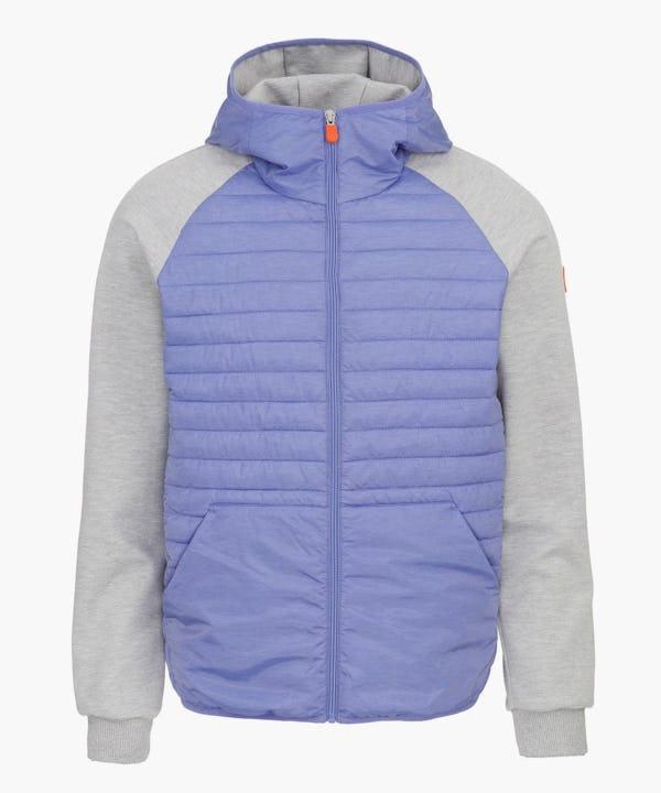 Men's Hooded Jacket in Light Blue Melange