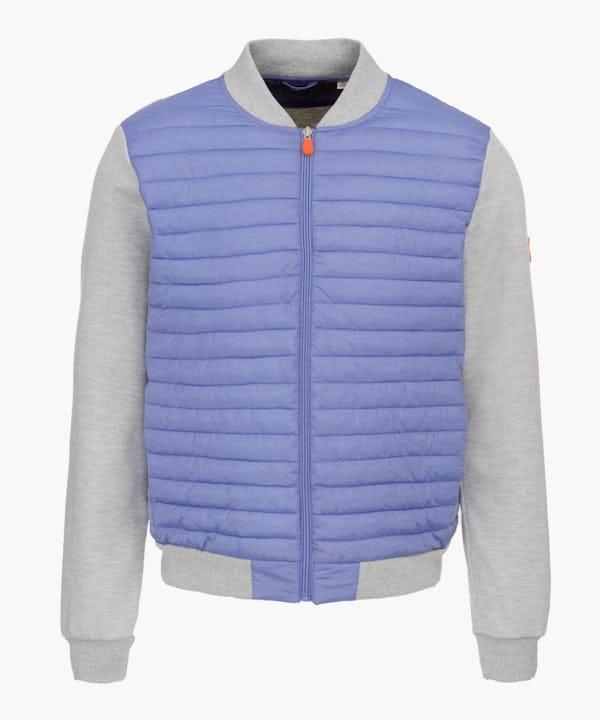 Men's Jacket in Light Blue Melange