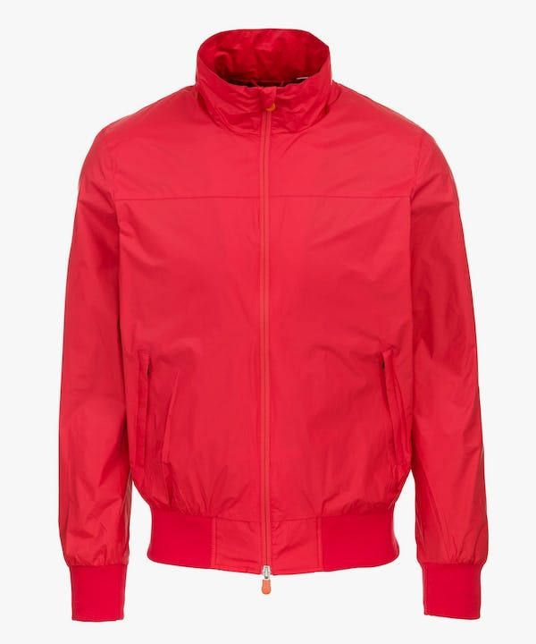 Men's Jacket in Tomato Red