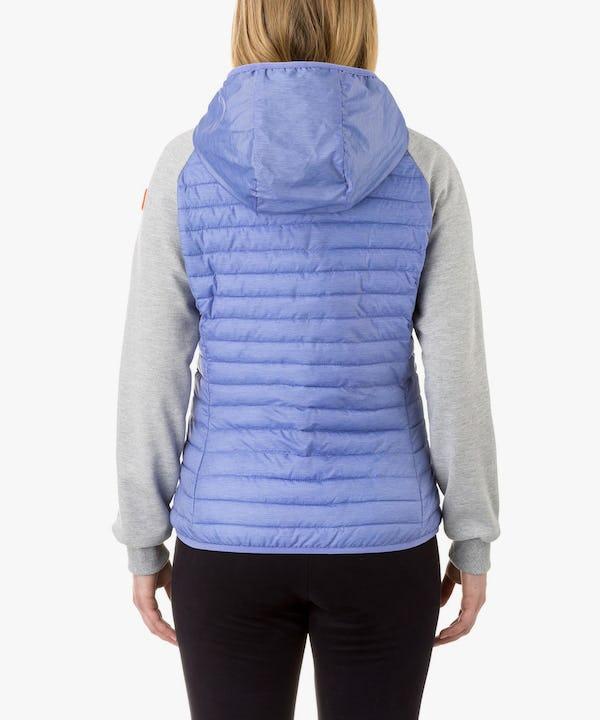 Women's Hooded Jacket in Light Blue Melange