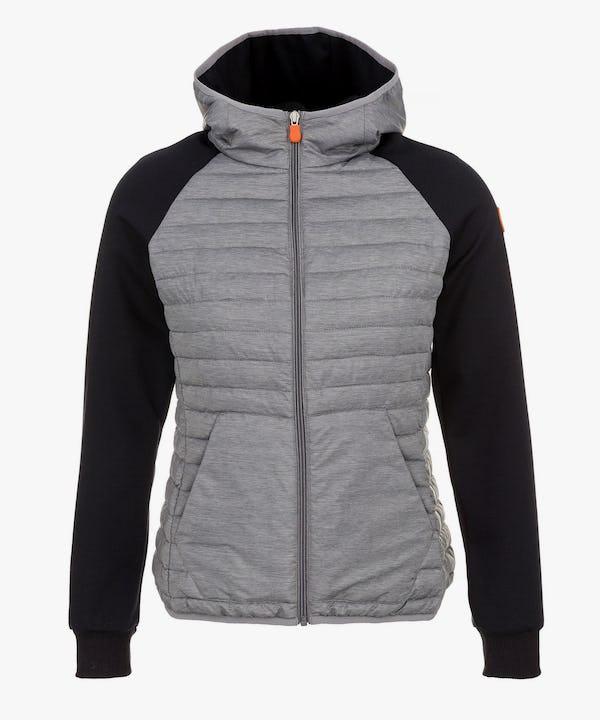Women's Hooded Jacket in Dark Grey Melange