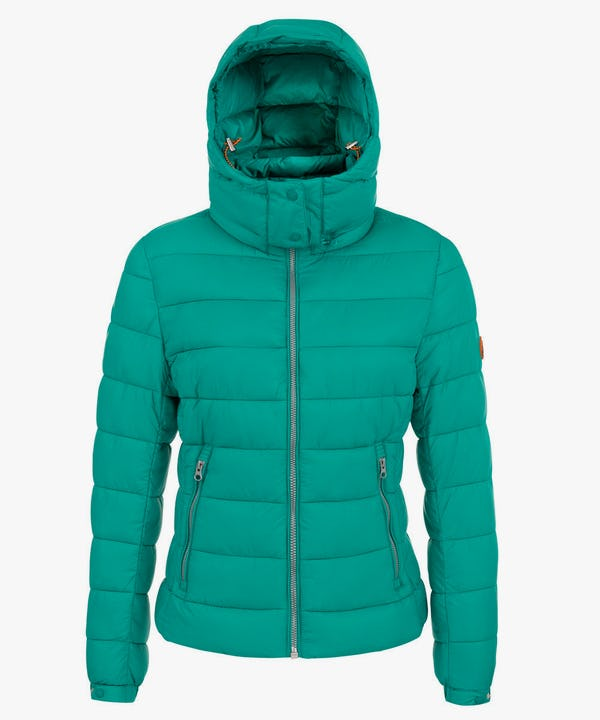 Women's Jacket with Removable Hoody in Waterfall Blue