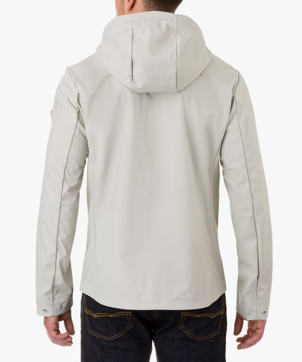 Men's Hooded Jacket in Ice Grey