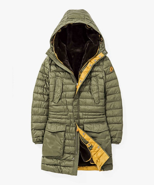 Winter Men's Hoodied Parka in Cypress Green