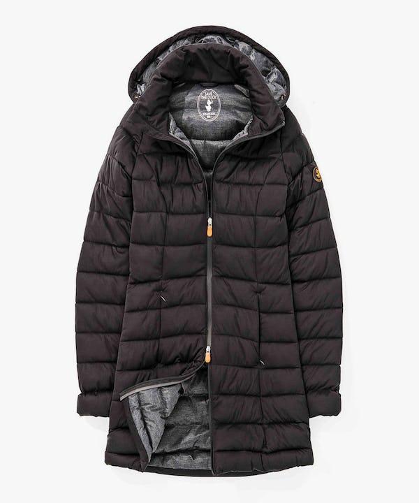 Women's Winter Hoodied Parka in Black