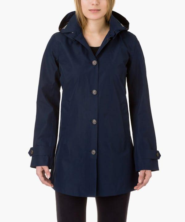 Women's Coat in Navy Blue