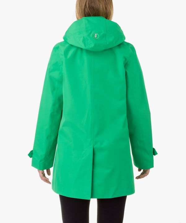 Women's Coat in Bright Green