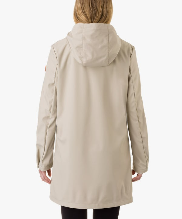 Women's Hooded Coat in Cray Beige