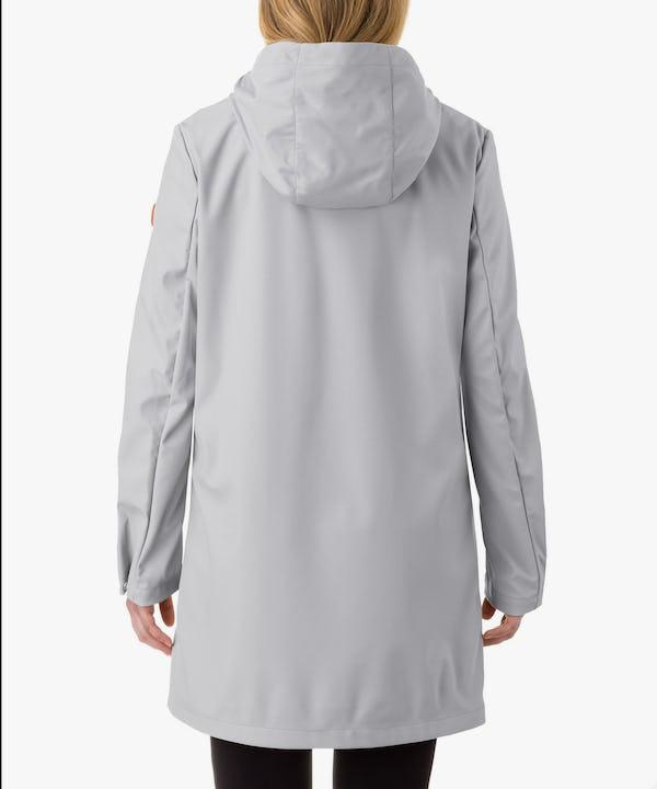 Women's Hooded Coat in Ice Grey