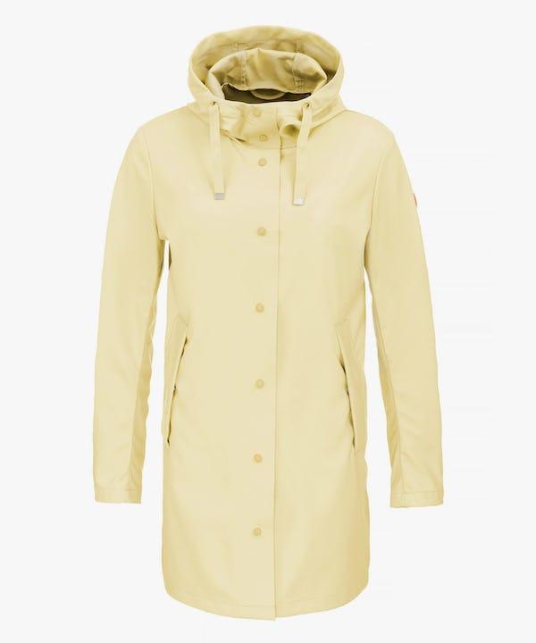 Women's Hooded Coat in Vanilla Yellow