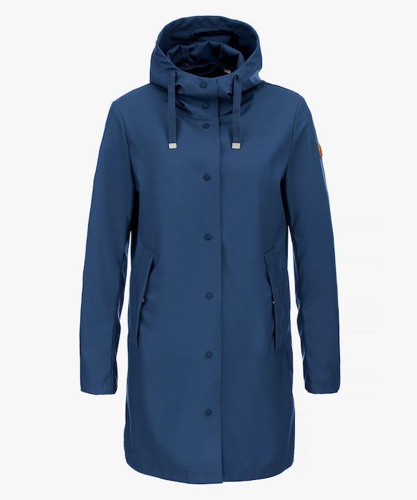 Women's Hooded Coat in Midnight Blue