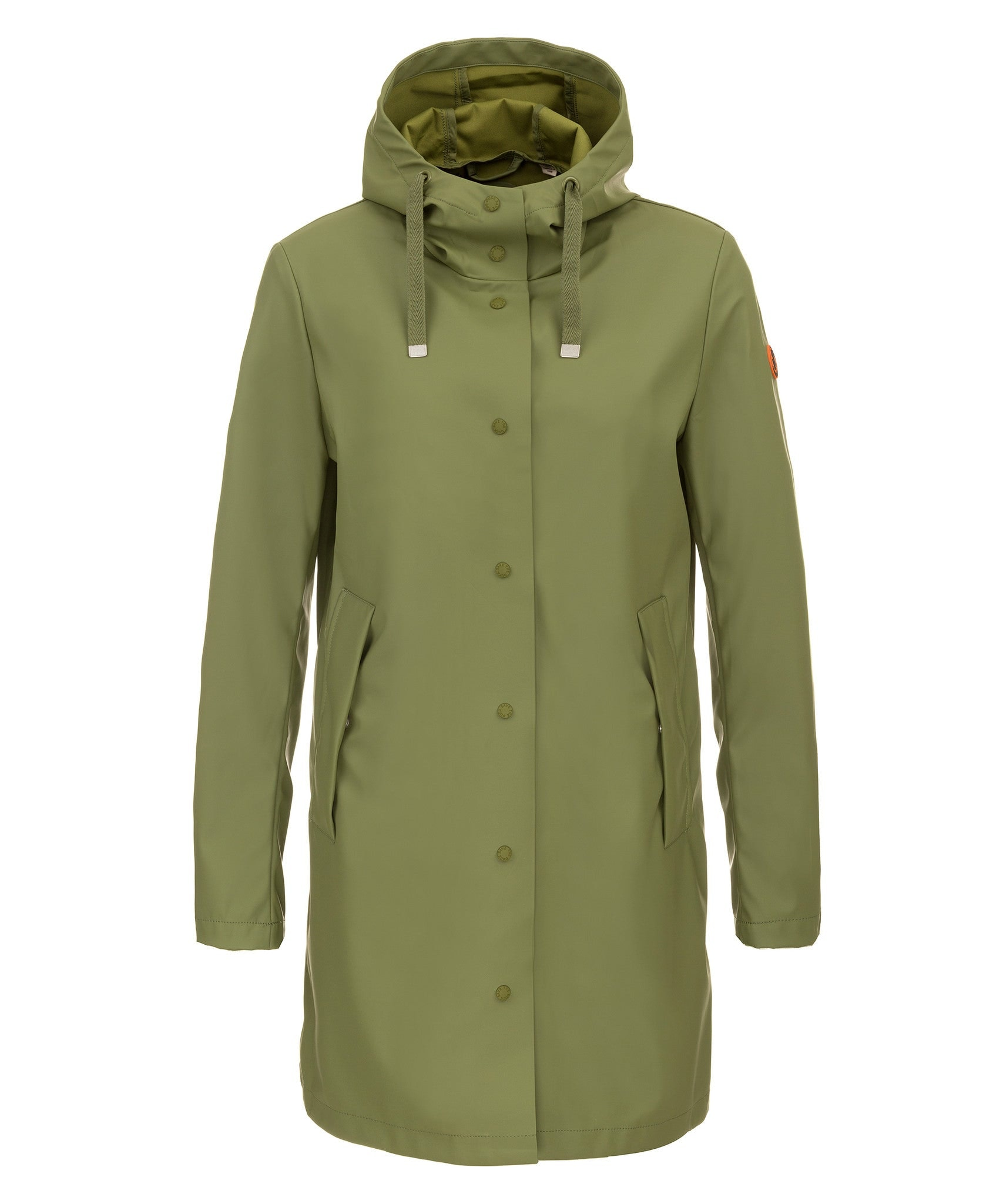 Save The Duck Women's Hooded Coat in Leaf Green – Save the Duck