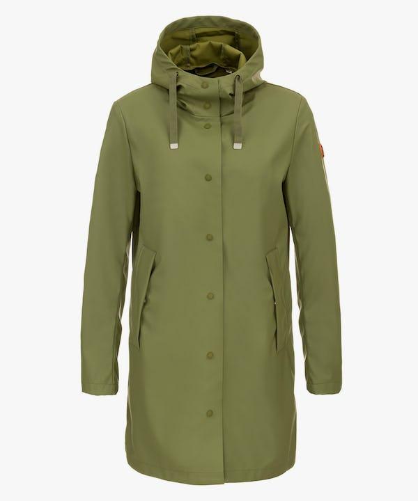 Women's Hooded Coat in Leaf Green