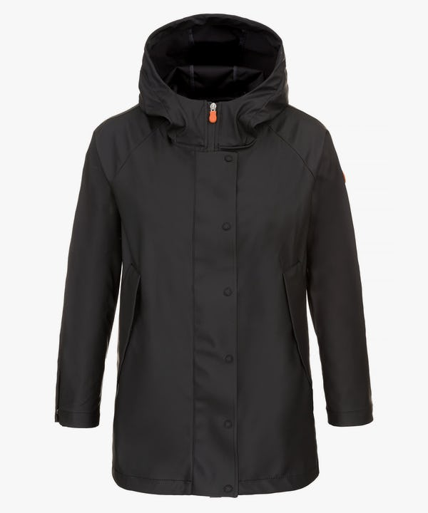 Women's Hooded Coat in Black