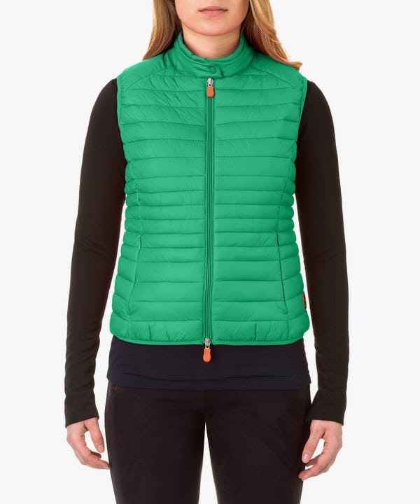 Women's Vest in Bright Green