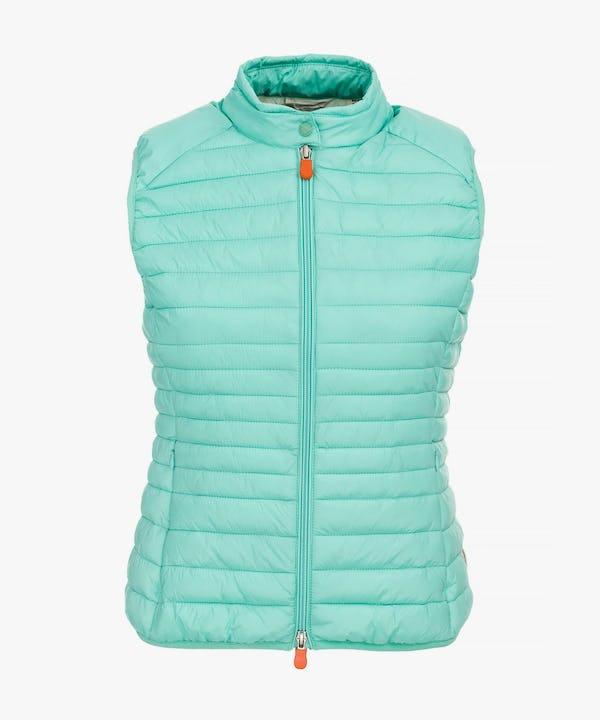 Women's Vest in Aqua Green