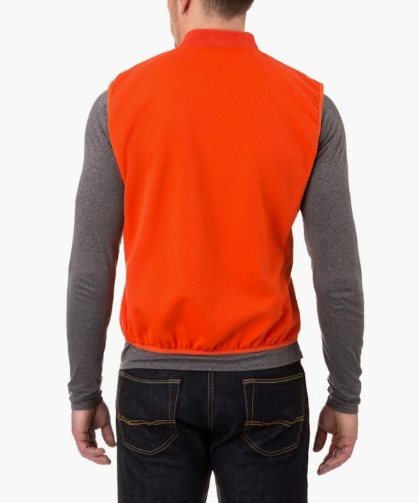 Men's Vest in Spicy Orange