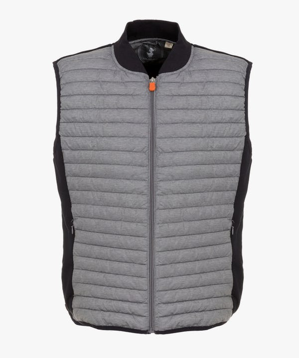 Men's Vest in Dark Grey Melange