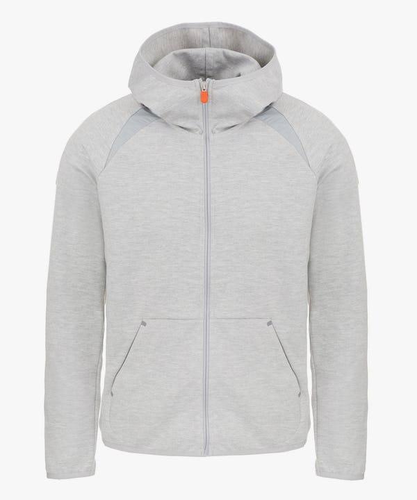 Men's Hooded Sweatshirt in Light Grey Melange