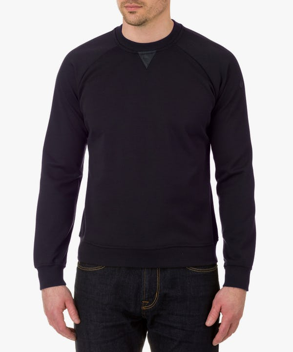 Men's Sweatshirt in Blue Black