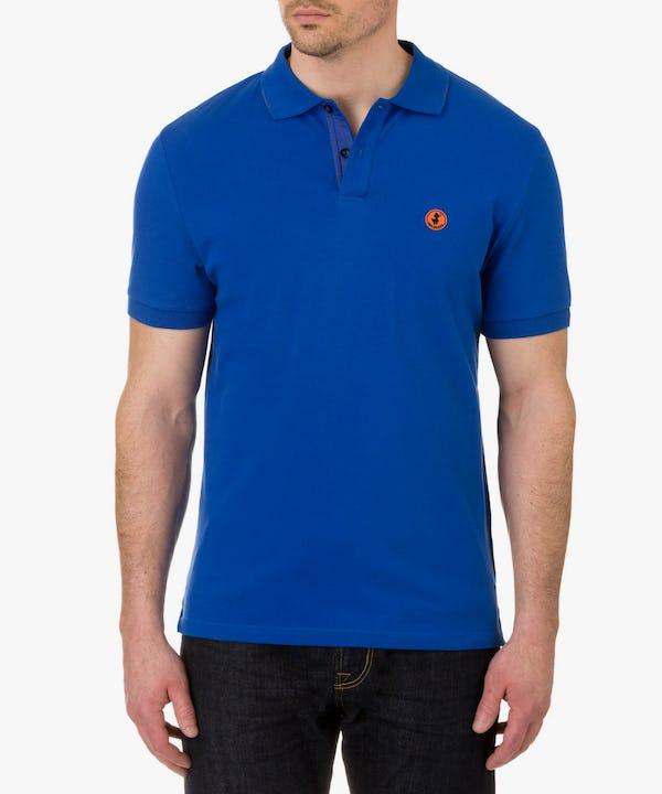 Men's Polo in Cobalt Blue