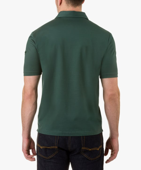 Men's Polo in Forest Green