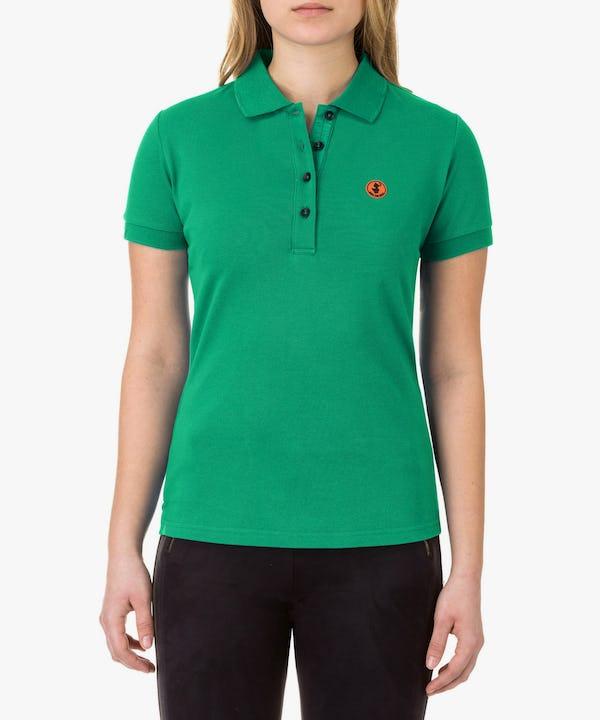 Women's Polo in Bright Green