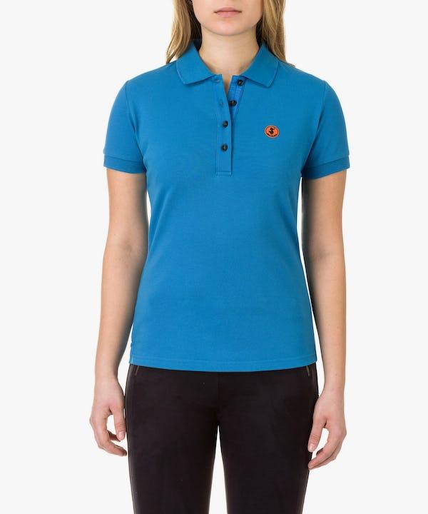 Women's Polo in Ocean Blue