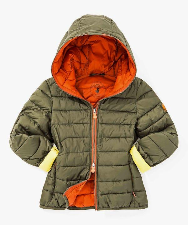 Hoodied Boy Jacket in Cypress Green