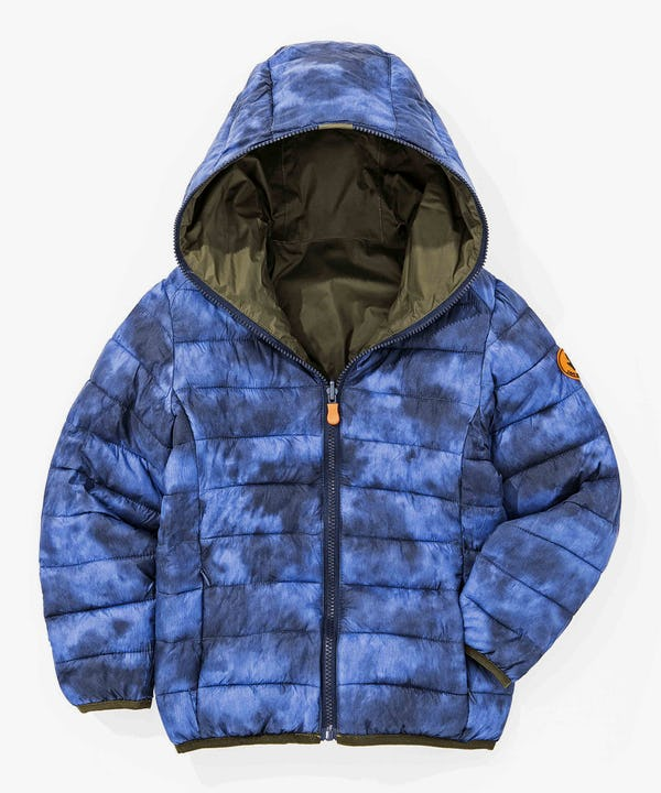 Boy Reversible Hoodied Jacket in Cypress Green