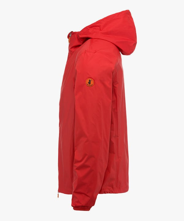 Men's Hooded Jacket in Love Red