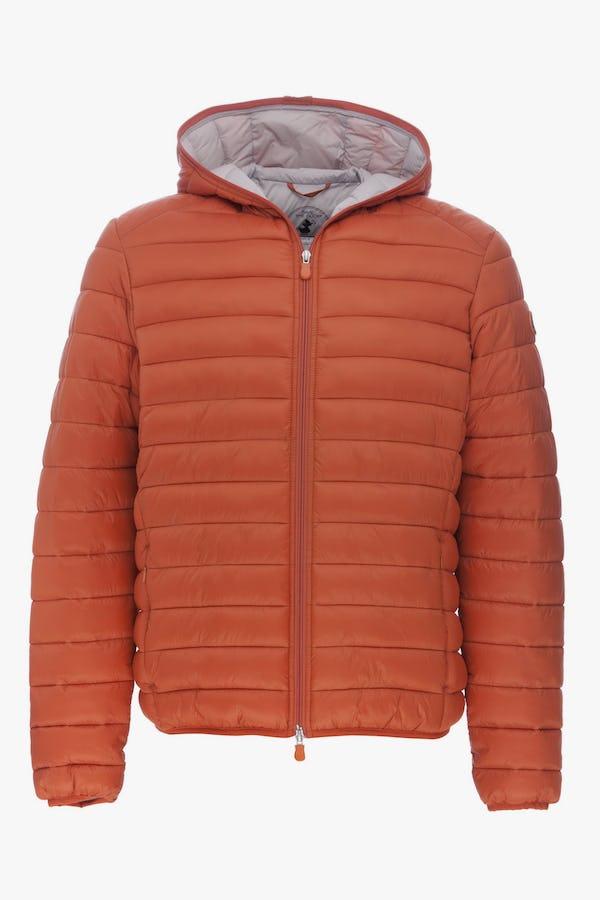 Men's Hooded Jacket in Pumpkin Orange